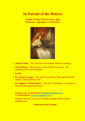 In Pursuit of the Heiress. Dromana House and Gardens, Sunday 5 May 2019